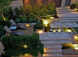 diseño de jardin minimalista en vizcaya
