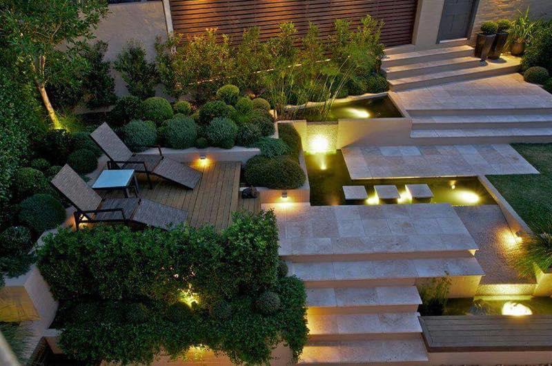 diseo de jardin minimalista en vizcaya - Jardines Minimalistas