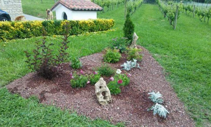 centro de jardin ornamental grava