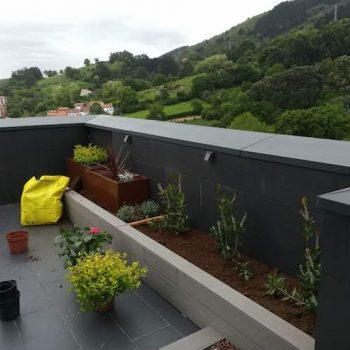 ajardinamiento terraza bizkaia
