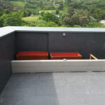 terraza grava volcanica