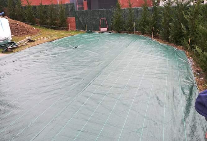 malla geotermica para cesped artificial