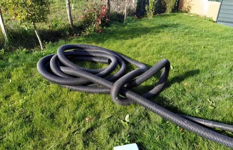 tubo de drenaje para el jardin